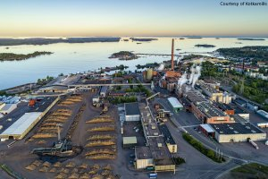 Aerial image of Kotkamills pulp mill. Usage by courtesy of Kotkamills.